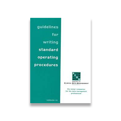 Guidelines for Writing Standard Operating Procedures